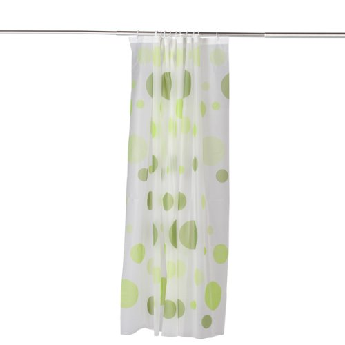 Boutique PEVA Shower Curtain Bath Curtain with Rod Hooks - Dots Pattern