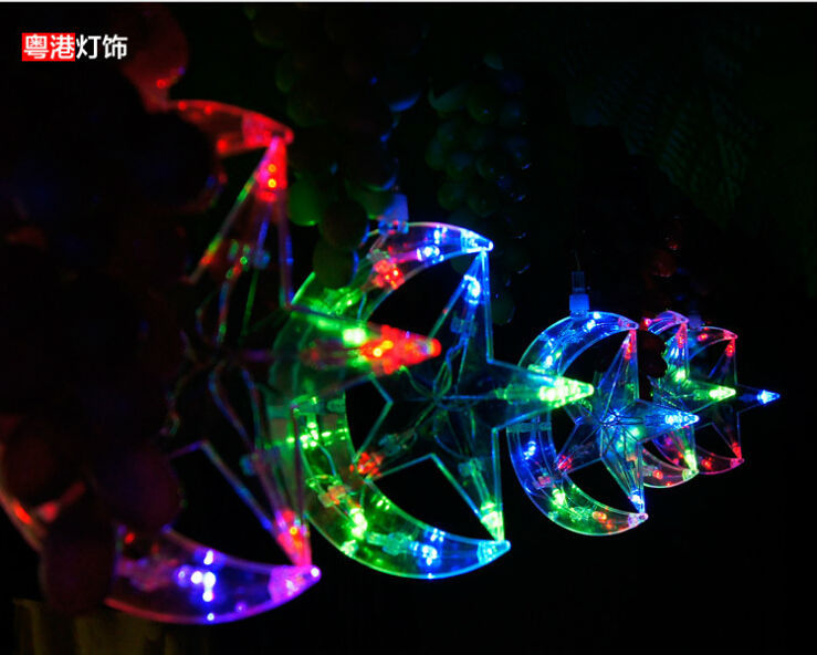Moon and Star Led String Lights Promotion-Shop for Promotional Moon and Star Led String Lights ...