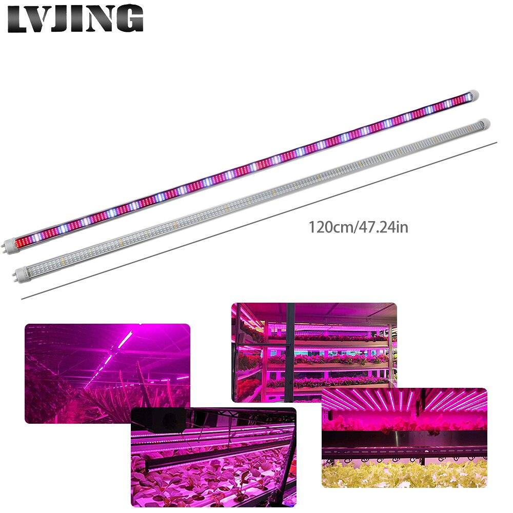 5pcs 1.2M T8 LED Phyto-lamp Tube For Plants 60W Red/Blue/White/Warm White LED Light Bar For Lettuce Strawberry Plant Grow Tent