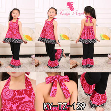 33eff0ecc 2018 New Hot Summer Ruffles Birthday Suit Girls Boutique Clothing Sets  Party Kids Clothes Wholesale Childrens