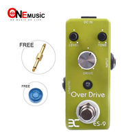 Eno Music EX Micro ES 9 Classic Over Drive Guitar Effect Pedal Metal Shell True bypass + Free Connector
