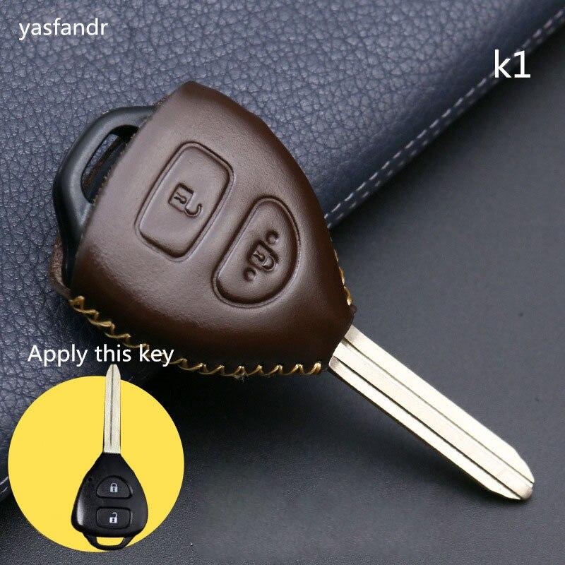car accessories key cover case araba aksesuar For 2 buttons Toyota Camry Corolla Prado RAV4 Vios Hilux Yaris Car