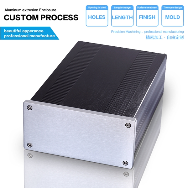 145*68-220 mm DIY HIFI OEM Custom Aluminium Extruded Electronic Enclosure metal box enclosure/aluminium box diy 4pcs a lot diy plastic enclosure for electronic handheld led junction box abs housing control box waterproof case 238 134 50mm