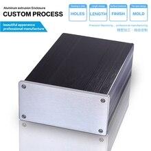 145*68-220 мм diy hifi пользовательские алюминий экструдированный электронный корпус металлический корпус/алюминиевая коробка diy