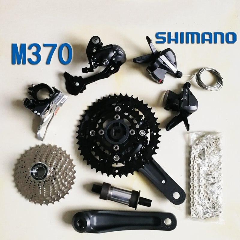 Shimano m370 Bicycle Derailleur 9S 27S Road Bike Derailleur Shifter+Front Derailleur+ Rear Derailleur Groupset bike rear derailleur r9 double 9 speed derailleur road bike groupset for shimano sram