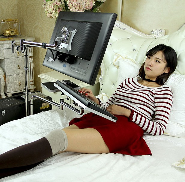 Universal Adjustable Desktop Computer Laptop Bed Table