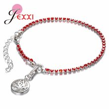 Gorgeous Trendy Gift For Lover Sister Tree of Life Bracelets 7 Colors 925 Sterling Silver With Charming Cubic Zirconia(China)