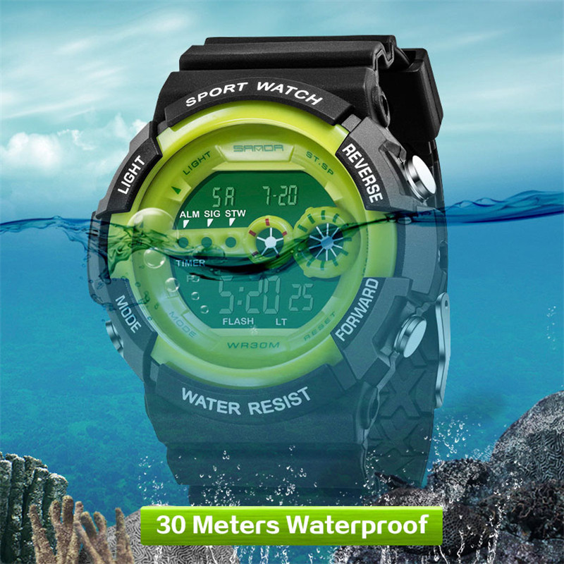 New Sanda Brand Sport Digital Watch Men Fashion Waterproof Multifunction Military LED Digital Watches Outdoor Wrist Watch 2017 weide popular brand new fashion digital led watch men waterproof sport watches man white dial stainless steel relogio masculino