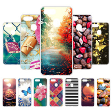 3D DIY For Oppo F9 Case Pro Back Cover Fundas Coque Soft Silicone Maple Leaf Painted Housing