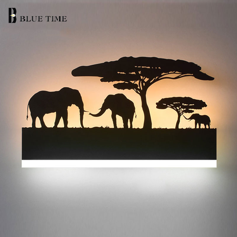 BLUE TIME New Black 12W Creative Modern Wall Lamp Bedside Lamp LED Wall Light Bedroom Room Bathroom Mirror Fornt Light AC85-260V 40cm 12w acryl aluminum led wall lamp mirror light for bathroom aisle living room waterproof anti fog mirror lamps 2131