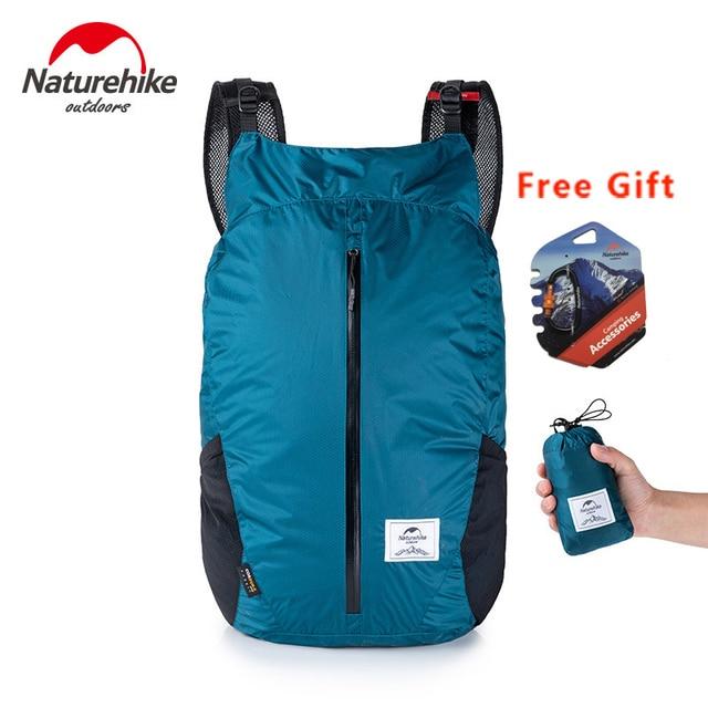 NatureHike 25L Cordura Kain 30D Nilon Lari Olahraga Ringan Lipat Tas Pack Ransel Fashion City NH18B510-B