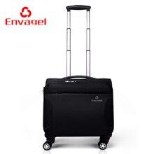 Kommerziellen universalräder trolley reisetasche gepäck männlich softbox oxford gewebe gepäck 16 weibliche reisegepäck-taschen