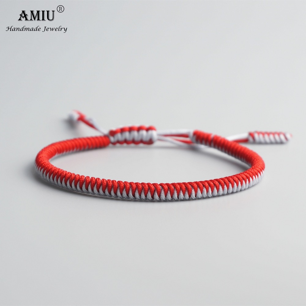 AMIU Tibetan Buddhist Lucky Charm Tibetan Bracelets & Bangles For Women Men Handmade Knots Mix Rope Christmas Gift Bracelet