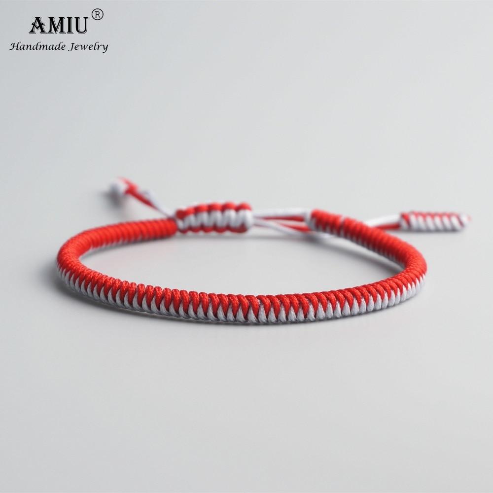 AMIU Tibetan Buddhist Lucky Charm Tibetan Bracelets & Bangles For Women Men Handmade Knots Mix Rope Christmas Gift Bracelet
