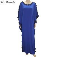 Mr Hunkle Women Spring Embroidery Dress Full Sleeve O Neck Thick Vestidos Maxi Loose Party Dresses