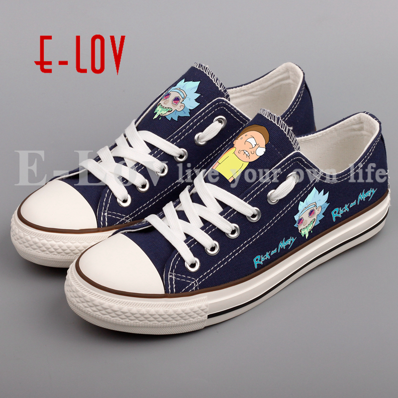 E-LOV New Anime Cool Print Men Canvas Shoes Peace Among Worlds Folk Casual Shoes Funny Espadrilles