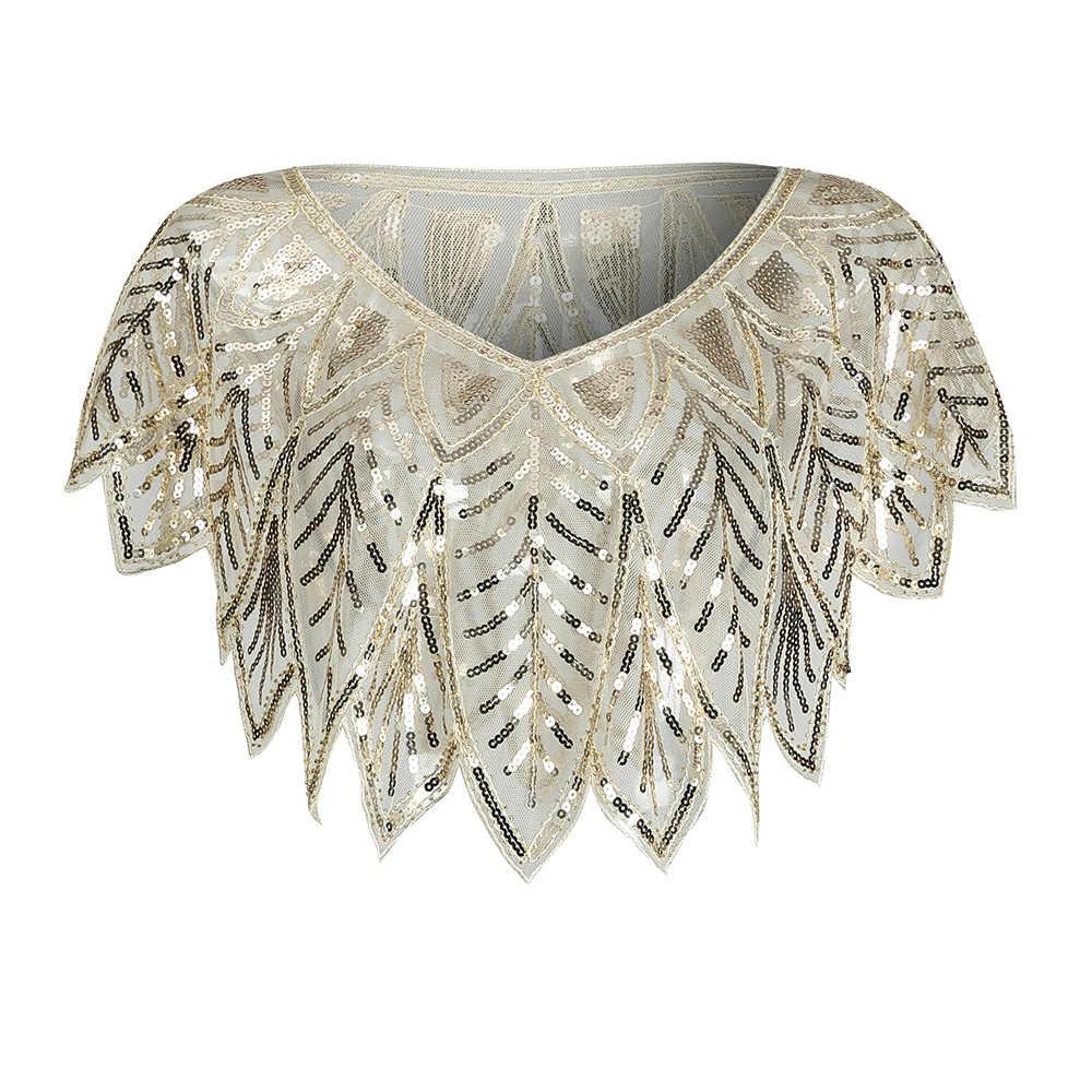 JaneVini Elegant Black Gold Bolero Sparkle Sequined Bridal Wraps ลูกปัด Cape ผ้าคลุมไหล่เสื้อคลุมสำหรับ Evening Party อุปกรณ์เสริม
