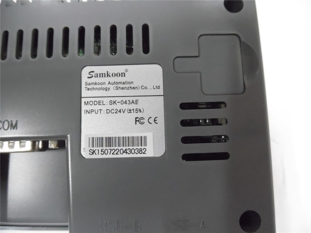 Samkoon SK-043AE : 4.3 inch HMI touch Screen Samkoon SK-043AE with programming cable and software new in box, Fast shipping sk 070ae 7 inch hmi touch screen samkoon sk 070ae with programming cable and software fast shipping
