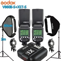2X Godox V860IIS Flash +1 X1T S Trigger +2 Light Stand +2 Softbox Photo Studio Kit Photography Accessories for Sony A77II A7RII