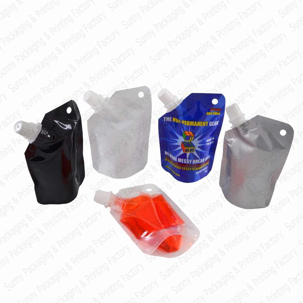 20 pcs 50 ml Stand Up Spout Pouches Bags Juice Pouches,Sauce Flask Spout Pouches BPA Free Food Storage Bags,Free S