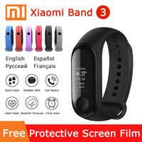 """Xiao mi bande 3 Bracelet intelligent mi bande 3 OLED écran tactile 0.78 """"affichage des messages prévision météo Tracker Fitness montre intelligente"""