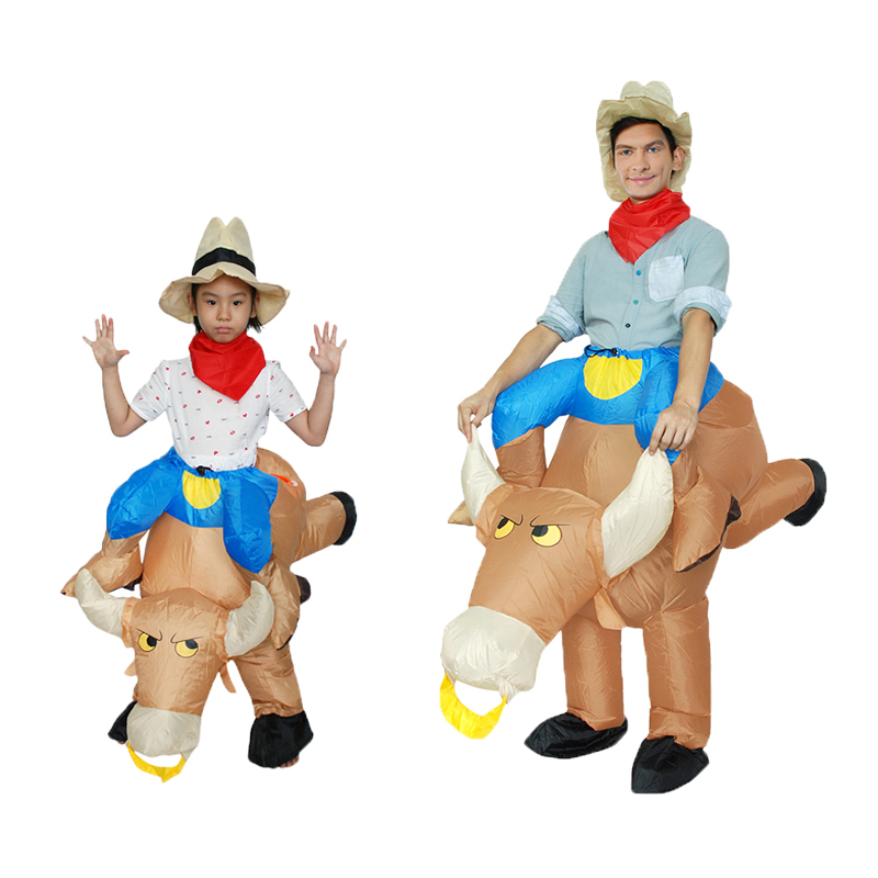 Inflatable Cowboy Cosplay Costumes for Women Blowup Halloween Anime Inflatable Costume Mascot Party Costume for Children