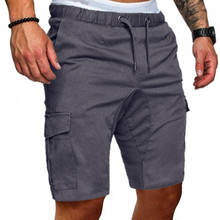 SHUJIN Mens 2019 New Shorts Men Cotton Loose Work Casual  Pants Plus Size Men Casual Elastic Solid Pockets Trousers