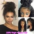 8A Virgem Peruano Afro Crespo Peruca de Cabelo Encaracolado Curto Alta densidade 100% Glueless Kinky Curly Perucas de Cabelo Humano Para O Preto mulheres