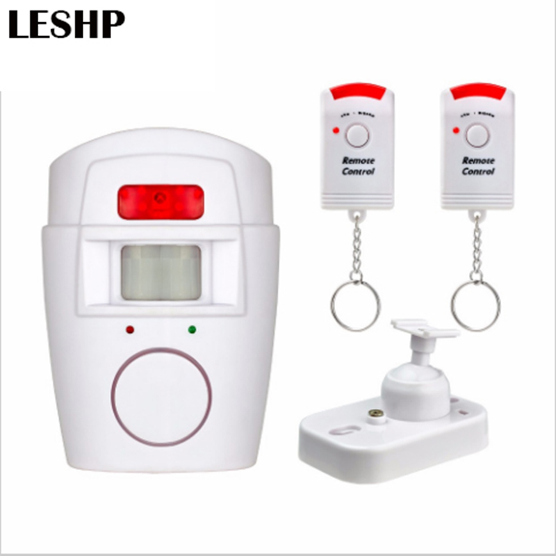 Home Security PIR MP Alert Infrared Sensor Anti-theft Motion Detector Alarm Monitor Wireless Alarm system+2 remote controller yobangsecurity wifi gsm gprs home security alarm system android ios app control door window pir sensor wireless smoke detector