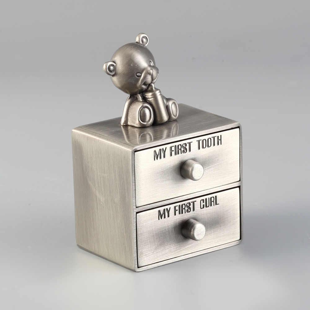 Милый Ребенок Первый зуб Коробка творческий сохранить молочные волосы/первый завиток подарок для детей металлический пупочный шнур коробка для хранения Детские Keepsake