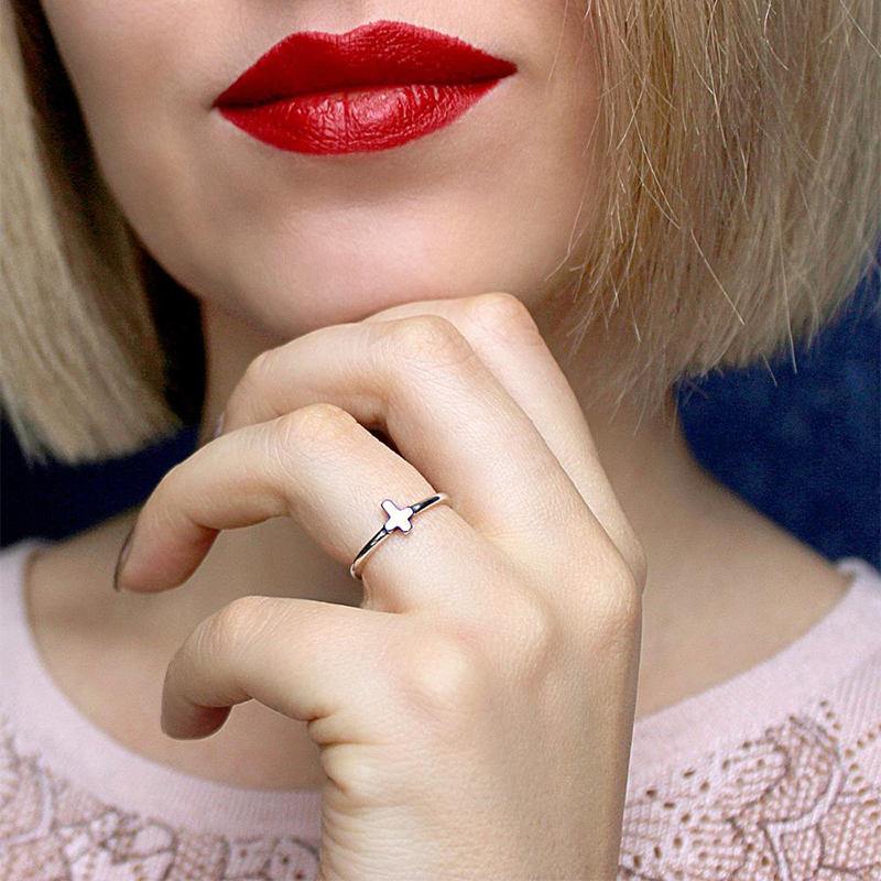 Tardoo Wedding rings Classic Punk Style Antique 925 Sterling Silver Rings for Women Cross Shape Fingers Rings Brand Fine Jewelry