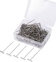 50 Pieces/Box Wig T Pins for Holding Wigs Silver 32mm Long T-pins Styling Tools For Wig Display(China)
