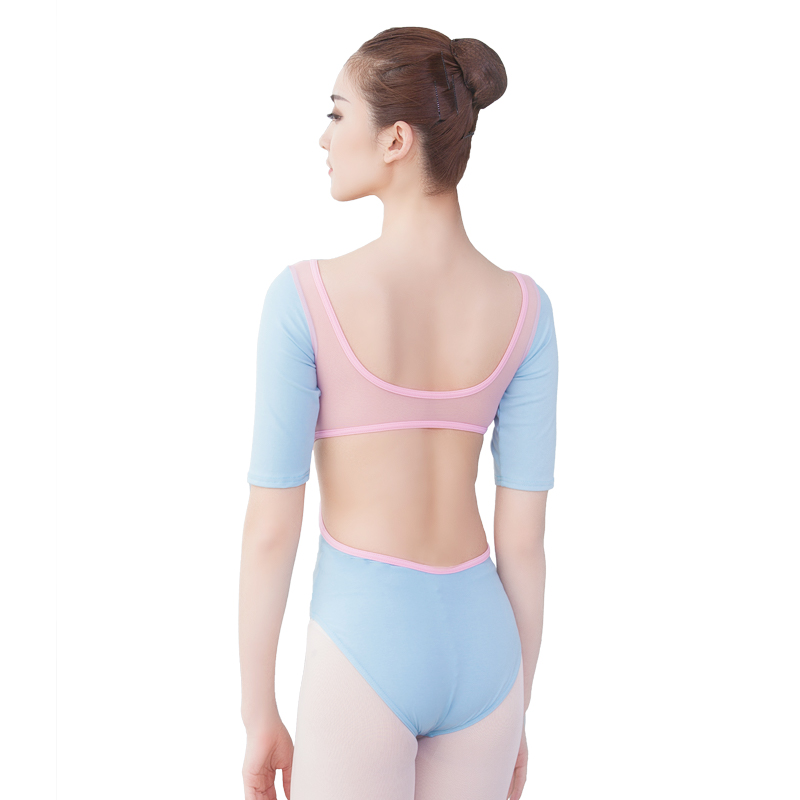 font-b-ballet-b-font-leotards-for-women-half-sleeve-low-back-mesh-leotard-contrast-color-gymnastic-leotard-adult-leotard