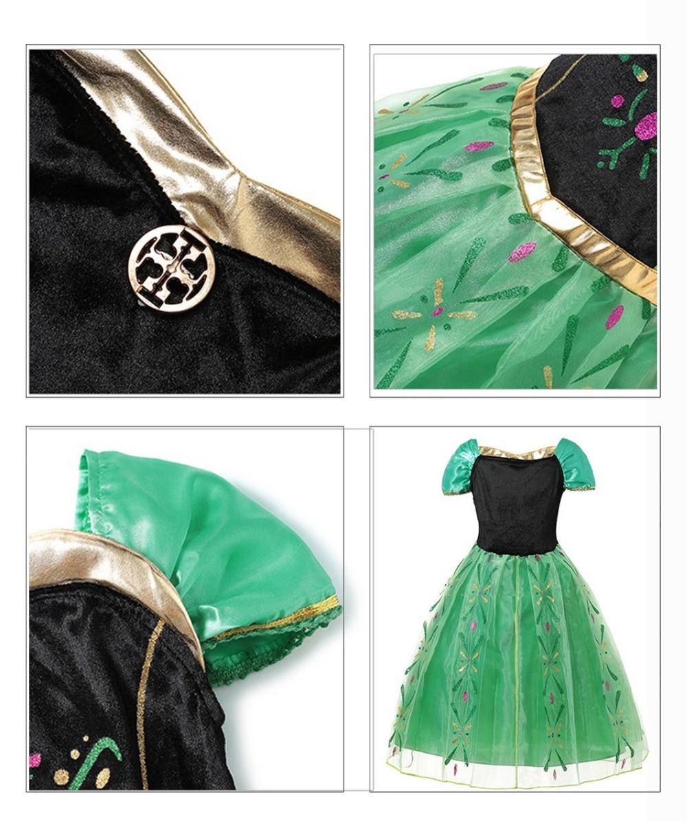 HTB1ERLJJkzoK1RjSZFlq6yi4VXaU Fancy Baby Girl Princess Clothes Kid Jasmine Rapunzel Aurora Belle Ariel Cosplay Costume Child Elsa Anna Elena Sofia Party Dress