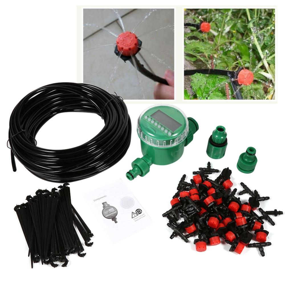 20m auto garden watering system hose 20 drippers diy drip - Tubo riego por goteo ...