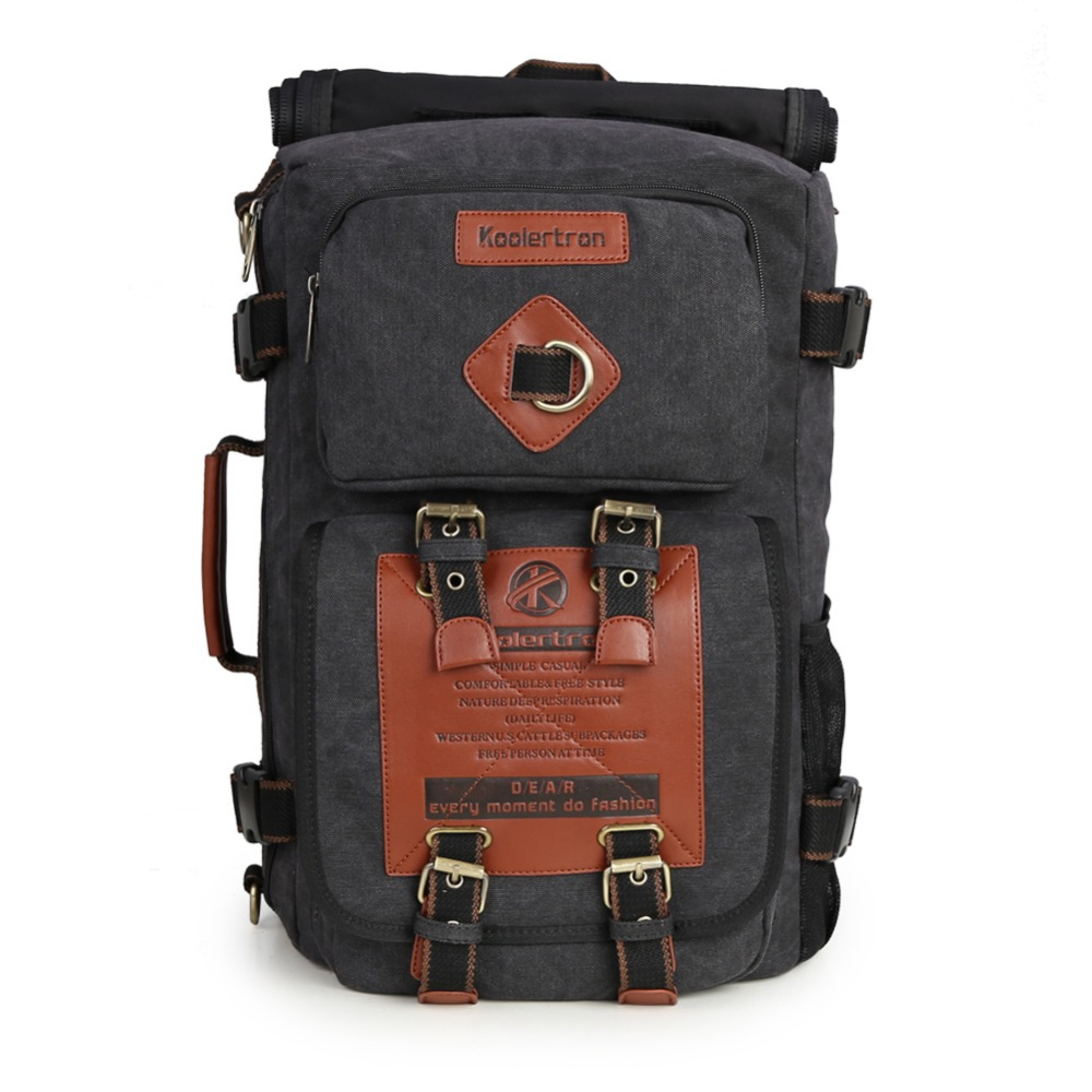ФОТО New Laptop Bag for 10-16 Inch Laptop Backpack Men's Computer Backpack Canvas Vintage Unisex Mountaineering Tactical Rucksack