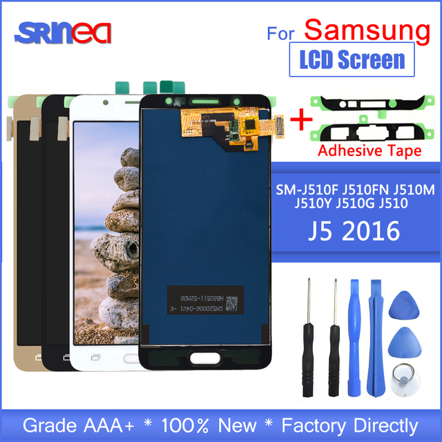 Display LCD Per Samsung J5 2016 j510 SM J510F J510FN J510M J510Y J510G Display Touch Screen Digitizer Assembly Strumenti Adesivo