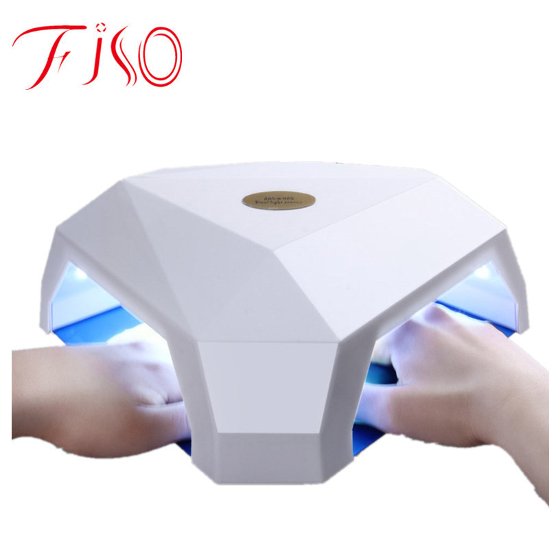 60W LED / UV Nail Dryer Double Hole Design Nail Manicure Tool LED / UV Nail Gel Lamp for Drying all Gels Bases Polishes shanghai kuaiqin kq 5 multifunctional shoes dryer w deodorization sterilization drying warmth