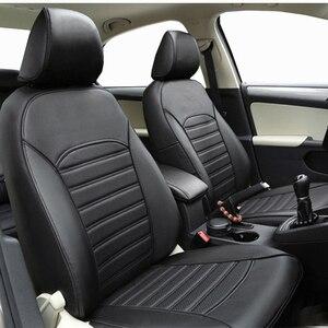 Image 2 - Carnong غطاء مقعد السيارة الجلود مخصص صالح لل مقعد السيارة الأصلي نفس الهيكل مغطاة بالكامل حامي غطاء مقعد السيارات