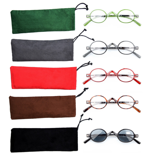 7287a7ec2a3a R077 Mix 5-pack Eyekepper Spring Temple Vintage Mini Small Oval Round  Reading Glasses include Sun Readers +0.00---+4.00