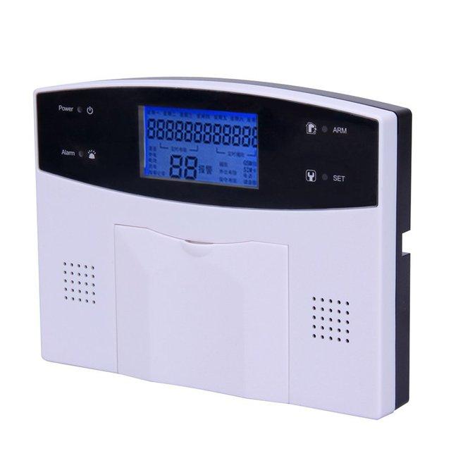 Casa inteligente LCD SMS GPRS GSM de Doble Red Inalámbrica kit domótico Antirrobo Sistemas de Alarma Del Sensor Detector de Seguridad