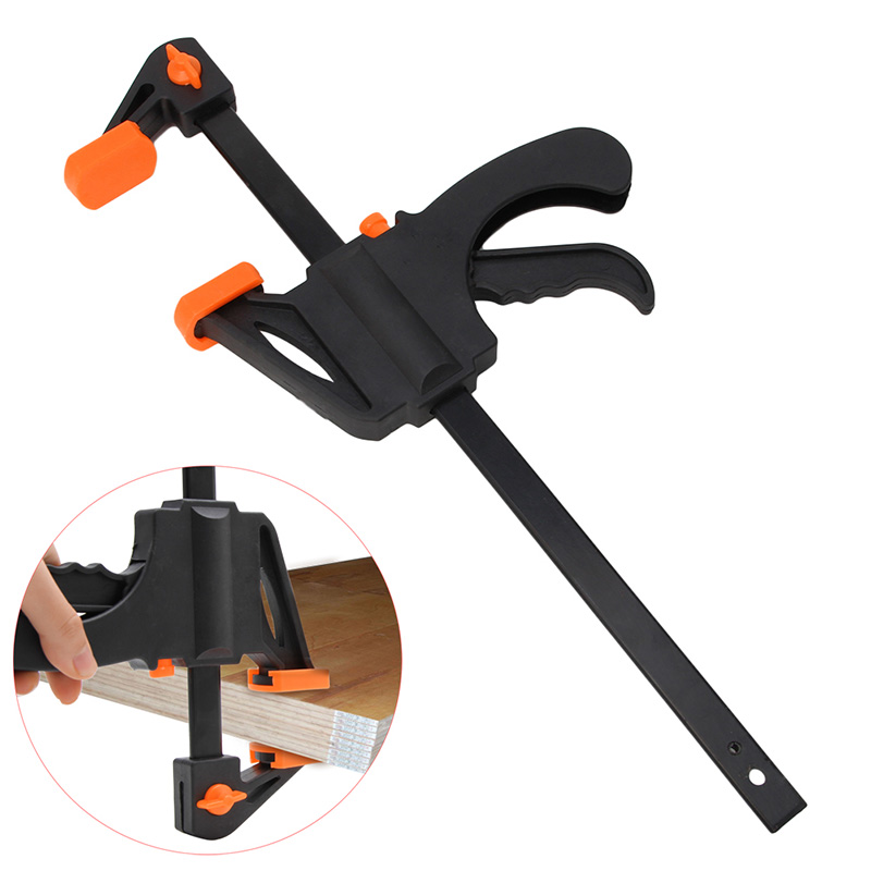 10 Inch Wood-Working Bar Clamp Quick Ratchet Release Speed Squeeze DIY Hand Tool