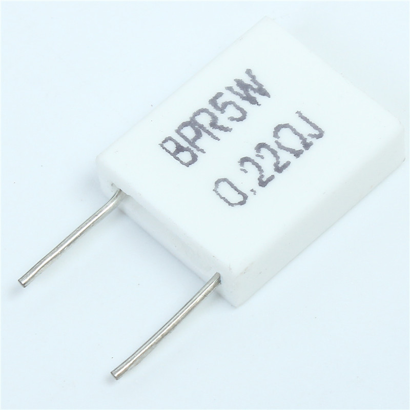 20pcs Non-inductive Ceramic Cement Resistor BPR56 5W 0.22 ohm 0.22R High Power Resistance Kit
