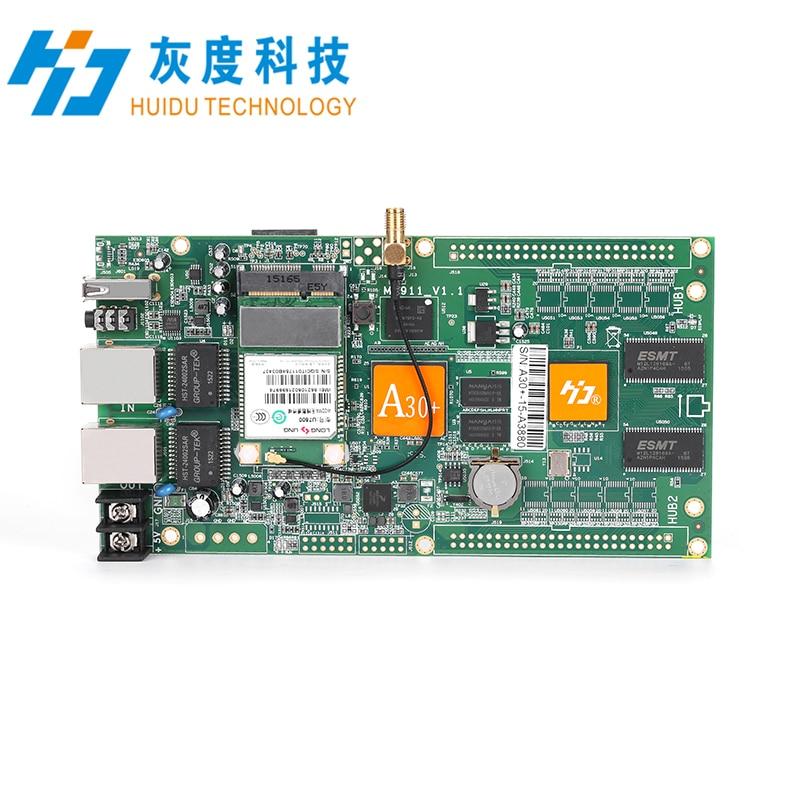 HUIDU HD-A30 + 1024*512 2048*256 Asychronous full color scheda di controllo a LED con modulo wifi funziona Solo con HD-R500 HD-R501 HD-R501EHUIDU HD-A30 + 1024*512 2048*256 Asychronous full color scheda di controllo a LED con modulo wifi funziona Solo con HD-R500 HD-R501 HD-R501E