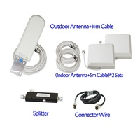 ZQTMAX GSM antenna booster 3G 4G LTE Antenna 20dBi external antenna with cable 698 2700MHz for 2G 3G 4G celluar signal repeater