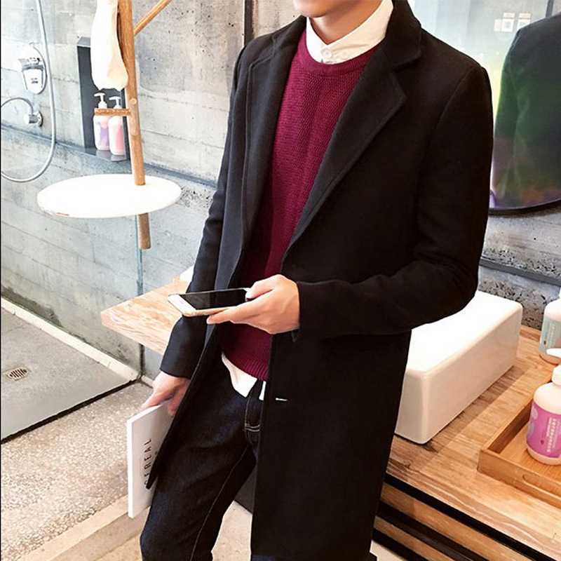 MRMT Jackets Clothing Overcoat Outer-Wear Woolen Male Autumn Men's Winter Casual And