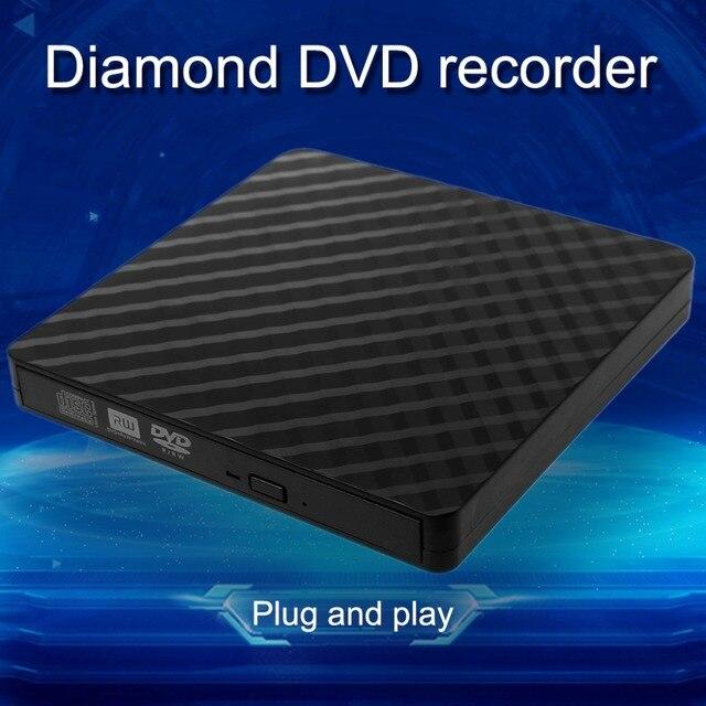 Ultra-slim External USB 3.0 CD DVD Rom Writer Rewriter Burner Player Data Transmission 5Gbps for Macbook Laptop PC