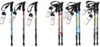 C7-010 Black,/Blue/ Red Super Light Straight Handle Carbon Fiber Walking Stick CANE Telescopic Hiking Nordic Trekking Poles