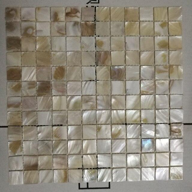 US $18.0 |Quadrato naturale mattonelle di mosaico delle coperture madre di  perla backsplash cucina carta da parati doccia sfondo bagno parete interna  ...