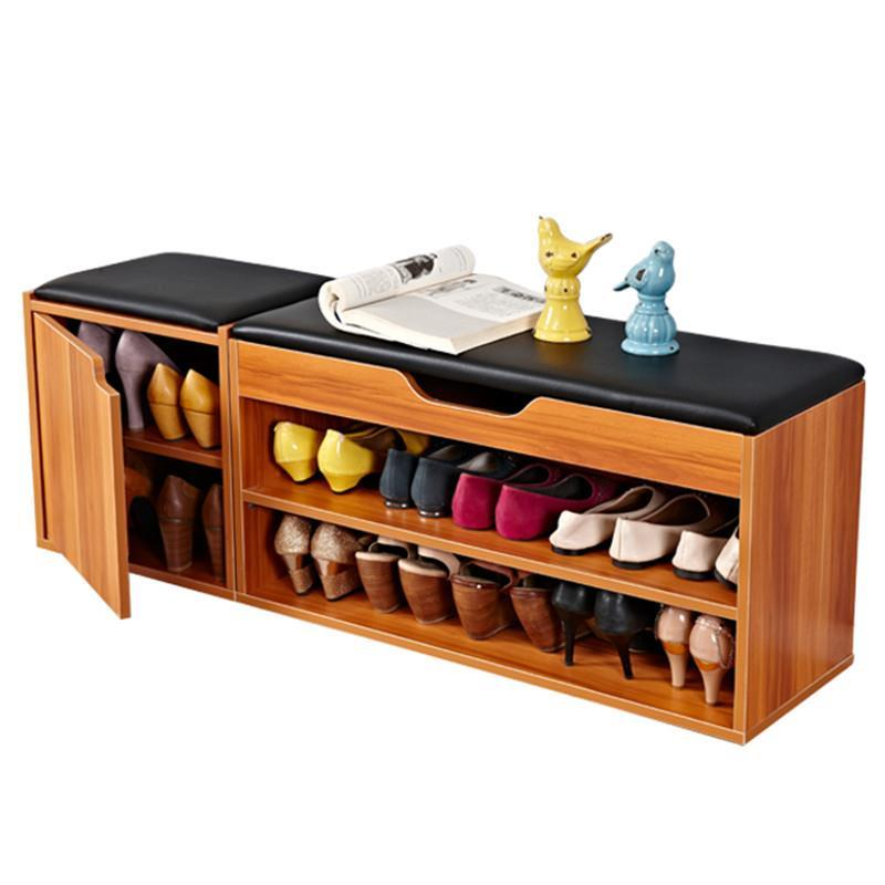 shoes  cabinet  shoe try on the door multi-function simple modern storage sofa bed stool rack shelves home furniture continental iron shoe multilayer simple stainless steel dust storage shoe iron shoe rack folding shelves